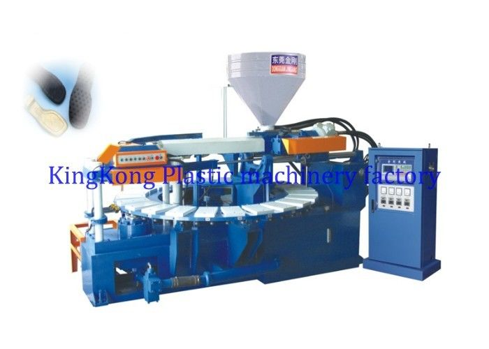 TPR / TR PVC Sole Making Machine , PVC Air Blowing Injection Machine For Soles