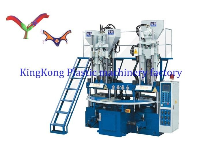Rotary Vertical 3 Colors PVC Strap Injection Moulding Machine 8 Stations For PVC Uppers