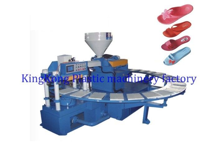 Rotary Women Slipper Shoe Making Machine Air Blowing For Lady Sandal