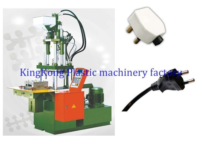 Vertical Three Pin Plugs Plastic Injection Molding Machine For Eletricity Plug Molding