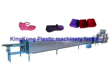 Automatic Electrostatic Flocking Equipment For Colorful PVC Lady Sandals