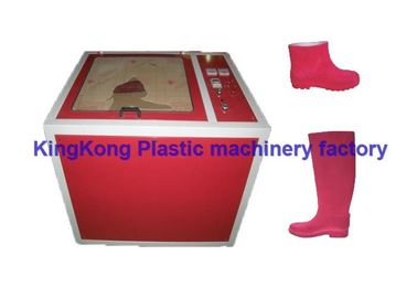 Red Electrostatic Flocking Machine For PVC Rain Boot Shoe With Adjustable Rotary Speed