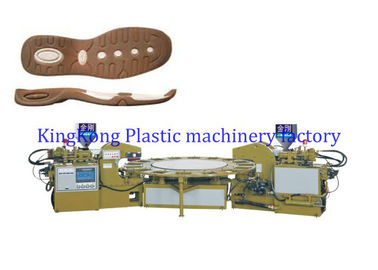 Durable Plastic Shoe Sole Making Machine Two Colors Multi Functional