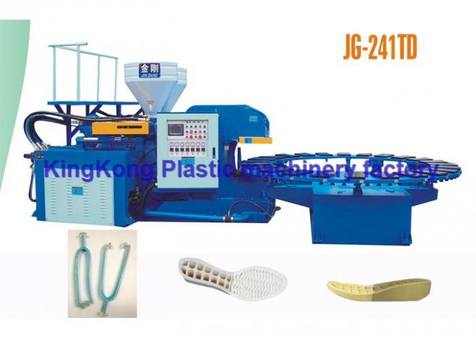 Shoe Injection Molding Machine For Mixed Sandal , PVC Sandal Shoe Manufacturing Machines For Ladies